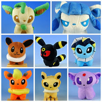 Umbreon + Espeon + Eevee + Flareon + Jolteon + Glaceon +  Leafeon + Vaoreon Plush Doll Pokemon / Pocket Monster