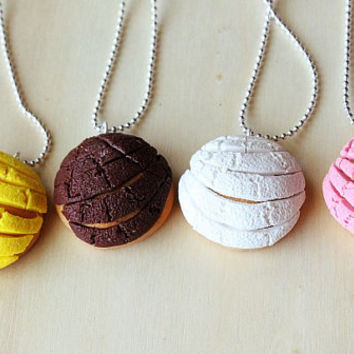 Mexican Concha Pan Dulce Necklace or Earrings
