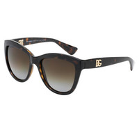 Dolce & Gabbana Logo Accented Cat Eye Sunglasses