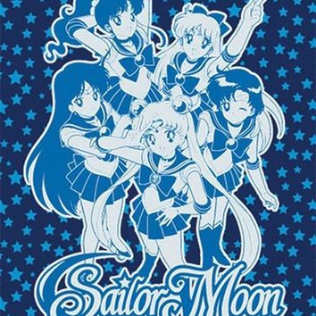 Sailor Moon Group Throw Blanket