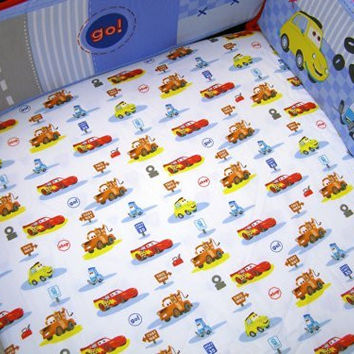 "Disney Car's ""Little Racer"" Crib Sheet (Discontinued by Manufacturer)"