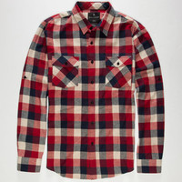 Shouthouse Oscar Mens Flannel Shirt Red  In Sizes