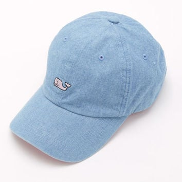 bb6dcabe402 Shop Chambray Whale Logo Baseball Hat at from vineyard vines