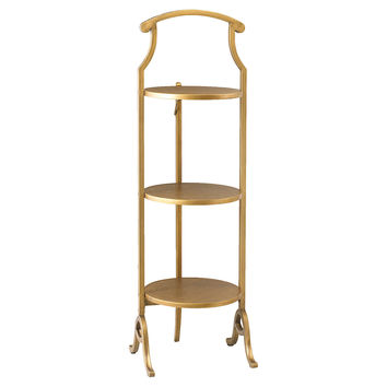 "Ames Folding 16"" Bookshelf, Gold, Bookcases & Bookshelves"