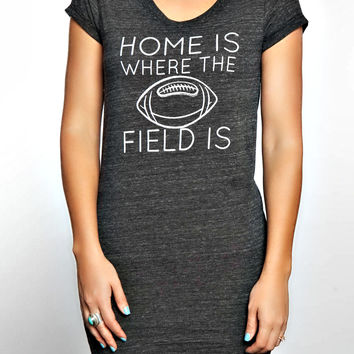 Home is Where the Field Is T-Shirt Dress