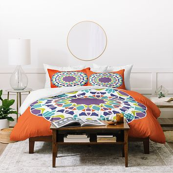 Karen Harris Mod Medallion Mulberry Duvet Cover