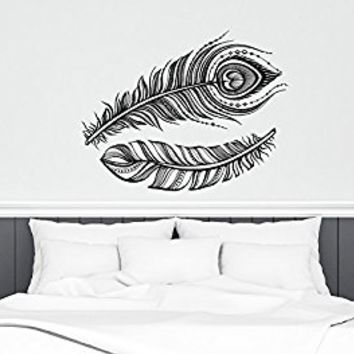 Feather Wall Decals Dreams Vinyl Decal About Dreams Stickers Nursery Bedroom Home Decor Feathers Wall Mural Art S123
