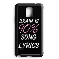 Cool Brain Song Music Cute Funny Quote Samsung Galaxy Note 4 Case