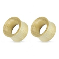 0g Organic Crocodile Wooden Earrings Plug Pair Body Jewelry Ear Gauges