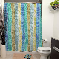 River Stripes Shower Curtain