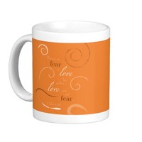 1 John 4:18 - Choose you own color. Customizable Coffee Mugs