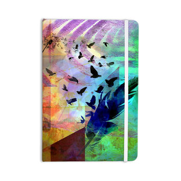 "AlyZen Moonshadow ""NOT QUITE BIRDS OF A FEATHER"" Green Multicolor Everything Notebook"