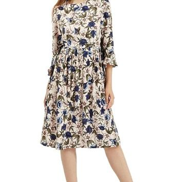 Women's Topshop Floral Print Dress,
