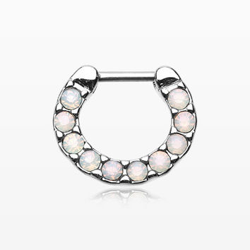 Opalites Sparkle Loop Multi-Gem Septum Clicker