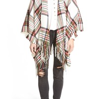 Capelli of New York Tartan Ruana | Nordstrom
