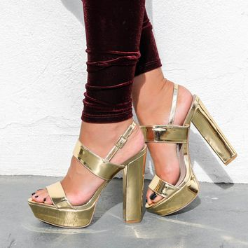 Hot Stuff Gold Heels
