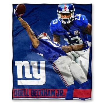 New York Giants NFL Odell Beckham Jr Silk Touch Throw (50in x 60in)