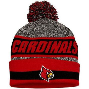 Louisville Cardinals Top of the World Cumulus Cuffed Knit Hat With Pom