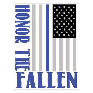 PEAPGQ9 Honor The Fallen Thin Blue Line Rectangular Decal Sticker