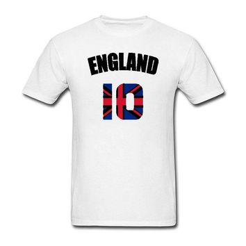 Funny england flag Englisher Soccerli Footballer T shirt Casual Short Sleeve Hot Hipster Tops customize Printed Short Sleeve Tee