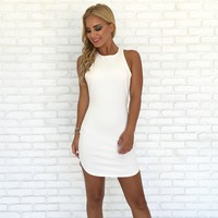 Full Control Bodycon Dress In White