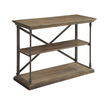 Coast to Coast Imports  61623 Hylas Medium Brown Reclaimed Wood and Iron Console Table