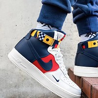 Nike Air Force 1 High AF1 New fashion hook high top couple shoes