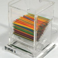Winco ACTD-3 Acrylic Toothpick Dispenser