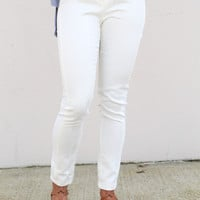 White Snakeskin Leggings