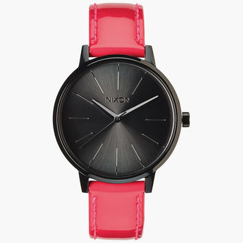 Nixon Kensington Leather Watch Pink One Size For Women 25951435001