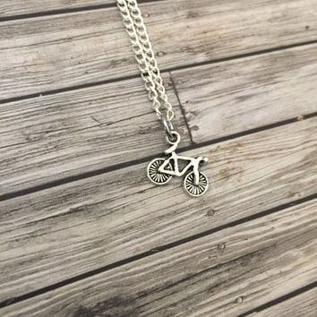 Bicycle Necklace, Bike Charm, Charm Necklace, Fit Gift , Anniversary Gift