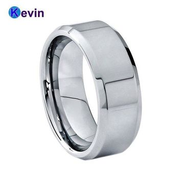 ac spbest Simple Style Tungsten Carbide Wedding Ring For Mens And Womens