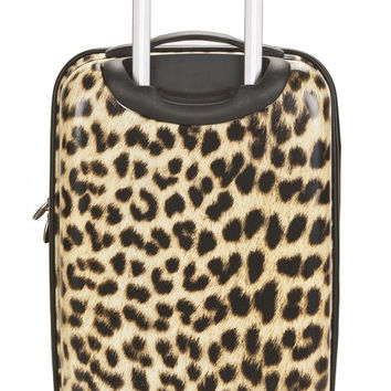 "F191-LEOPARD 20"" Polycarbonate Carry On  Luggage Set"