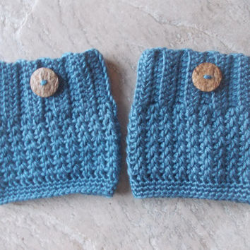 Country Blue Boot Cuffs