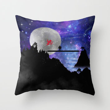 love you to the moon and back Throw Pillow by Haroulita