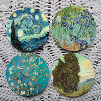 Glorious Landscapes -- Van Gogh Mousepad Coaster Set