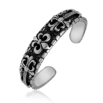 Hot Sale Awesome Shiny Stylish Gift Great Deal New Arrival Vintage Cross Ladies Titanium Bangle Accessory Bracelet [6542613379]