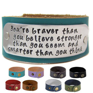 Christopher Robin Inspirational Bracelet  Hand by geekdecree