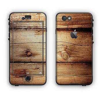 The Old Bolted Wooden Planks Apple iPhone 6 Plus LifeProof Nuud Case Skin Set