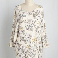 Sports Rapport Top in Butterfly Garden | Mod Retro Vintage Short Sleeve Shirts | ModCloth.com