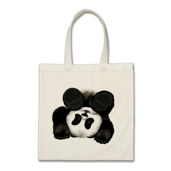 Cute Baby Panda Cub Tote Bag