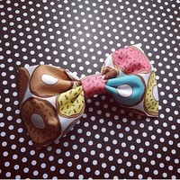 Donut fabric bow or bow tie