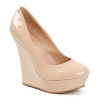 Sale- Nude Patent Wedges