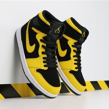 Air Jordan 1 Retro MID Black/Yellow