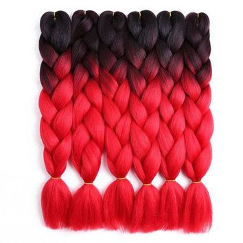 ONETOW 24inch Crochet Braids Ombre Jumbo Braid Colored Hair Extensions Synthetic Heat Resistant Bulk Hair for Braiding Golden Beauty