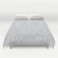 Abstract Lace on Grey Duvet Cover by Project M | Society6