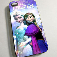 Disney Frozen Elsa and Anna - Print on Hardplastic for iPhone 4/4s and 5 case, Samsung Galaxy S3/S4 case.