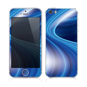 The Gradient Waves of Blue copy Skin for the Apple iPhone 5s