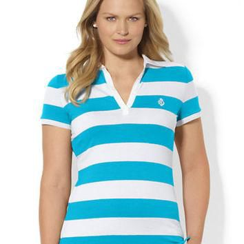 Lauren Ralph Lauren Plus Striped Polo Shirt