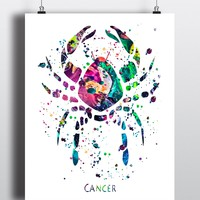 Cancer Astrology Art Print - Unframed